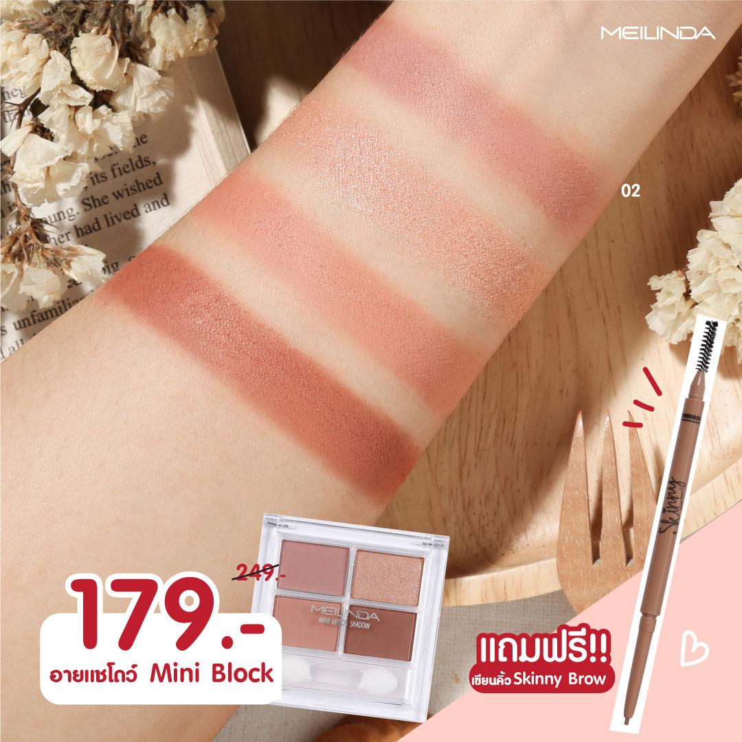 ซื้อ MINI BLOCK SHADOW ราคา 179 บาท แถมฟรี!! Brow Pencil Skinny
